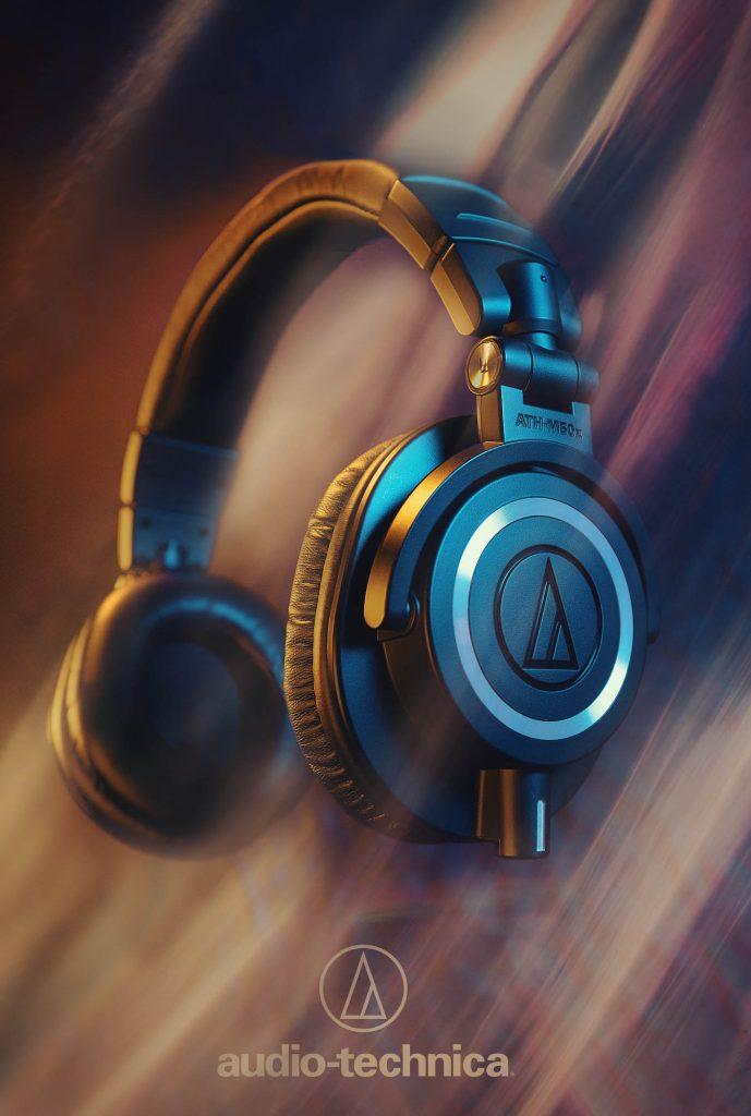 Audio Technica Hugo Moura product photography ATH-M50x